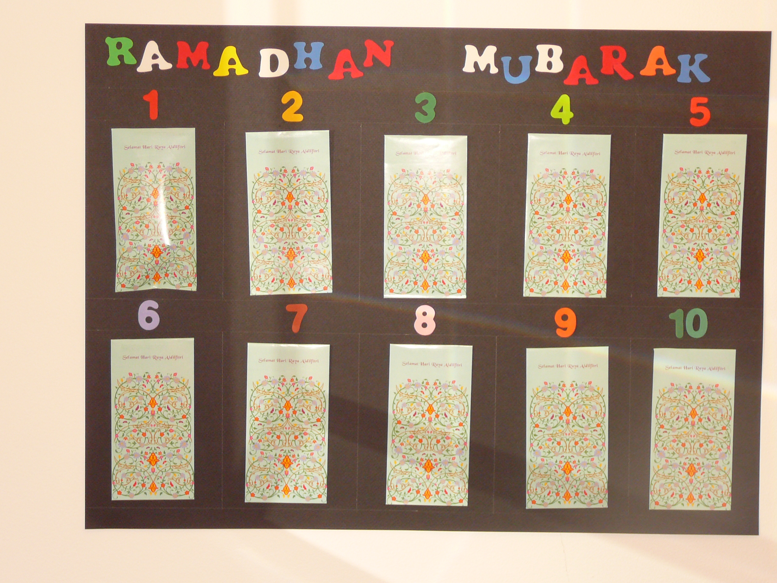 Calendar Craft Projects : Ramadan advent calendar muslim learning garden
