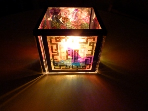 Eid Stained Glass Look Candle Holder