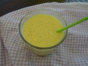 Yummy mango maple milkshake
