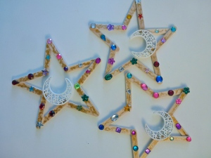 Eid popsicle stick stars