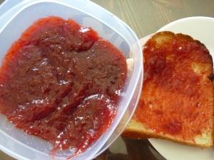 Our homemade strawberry jam.