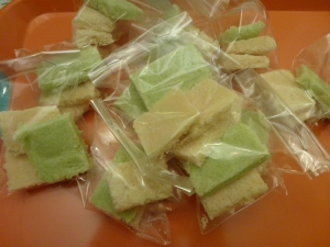 Coconut candies in wrap