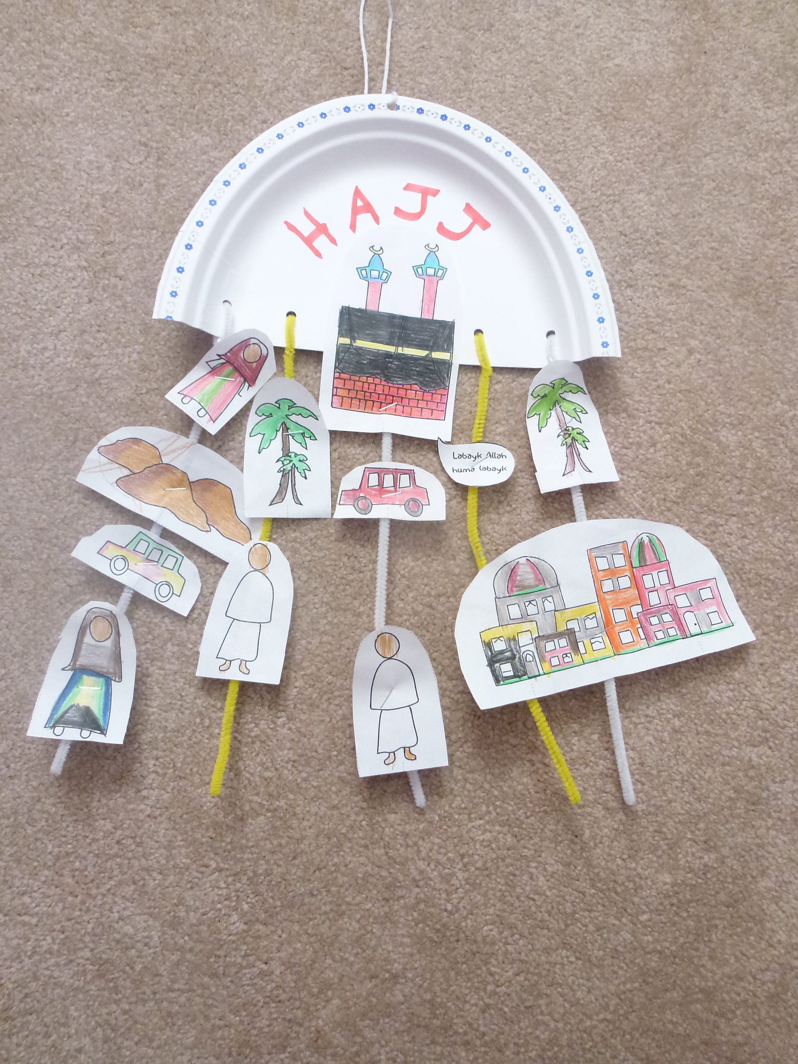 Hajj muslim learning garden for Arts and crafts for school