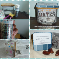 DATES JAR ~ A Paint Resist Craft ~