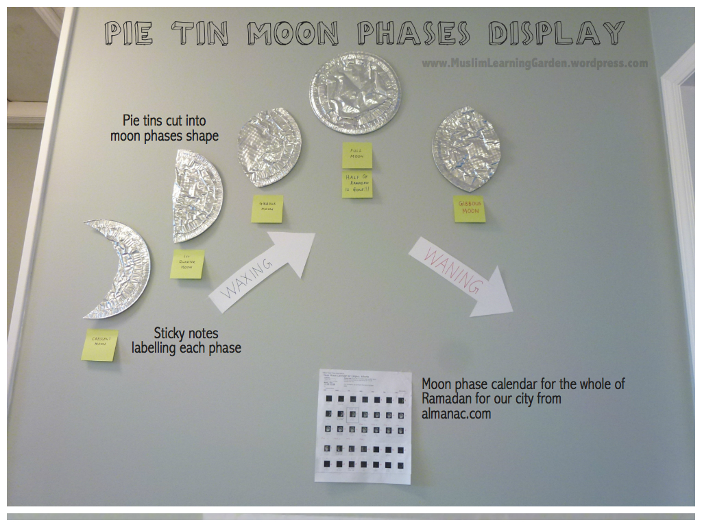 Click here to see the movie strip moon phases craft we did years ago ...